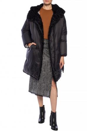 Pikowany płaszcz kapturem od Yves Salomon