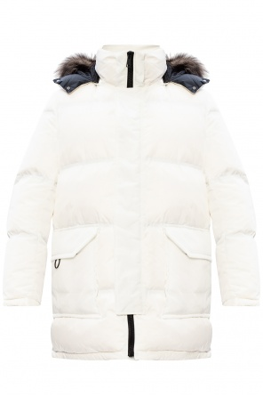 Down jacket with detachable hood od Yves Salomon
