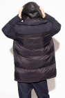 Yves Salomon Down jacket with leather insert