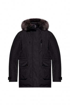 Hooded down jacket od Yves Salomon