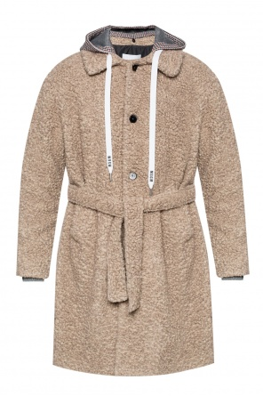 Coat with detachable hood od MSGM