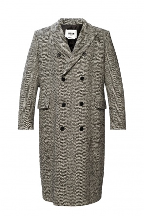Coat with notched lapels od MSGM