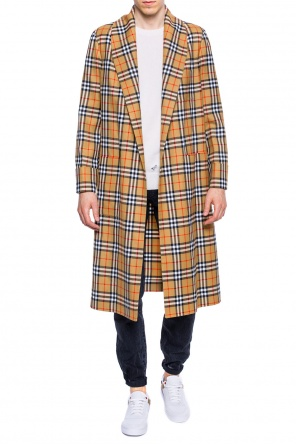 Checked gown coat od Burberry