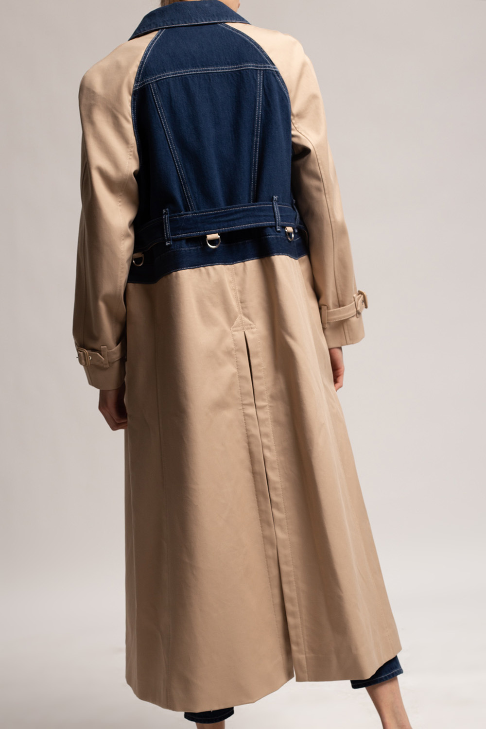 Burberry Jeans panelled trench