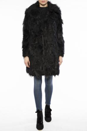 Double-breasted fur coat od McQ Alexander McQueen