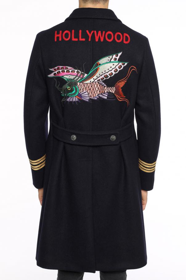 Single-vented double-breasted coat od Gucci
