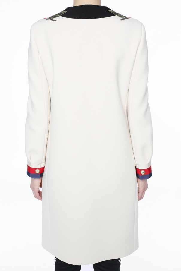 Floral-embroidered coat od Gucci