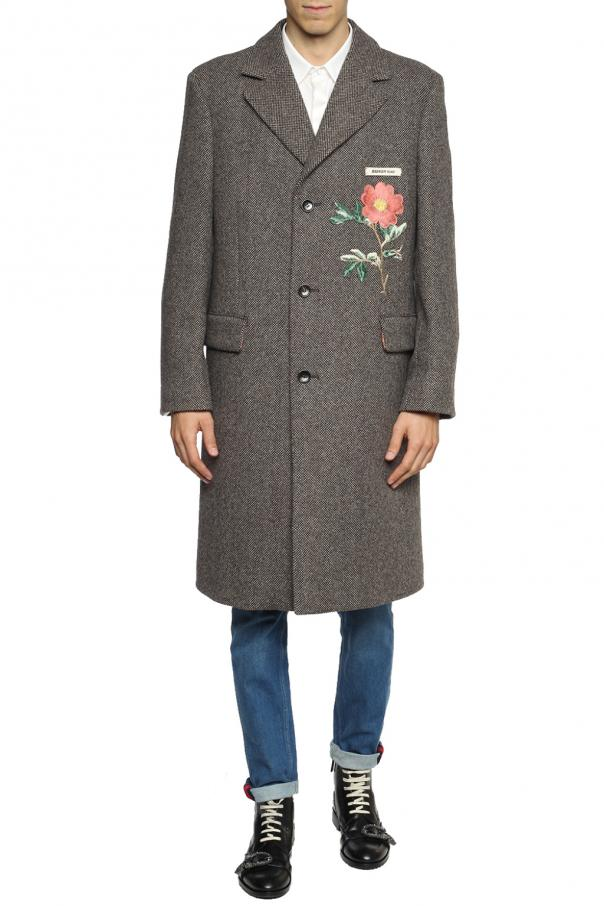 Appliqued coat od Gucci
