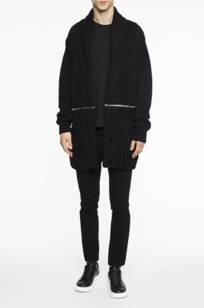 Woven cardigan with zippers od Alexander McQueen
