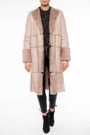 Lace-up shearling jacket od Alexander McQueen