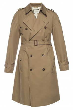 Double-breasted trench coat od Gucci