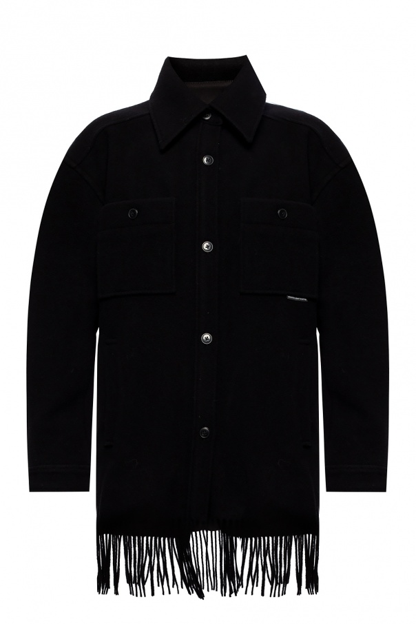 T by Alexander Wang Fringed coat
