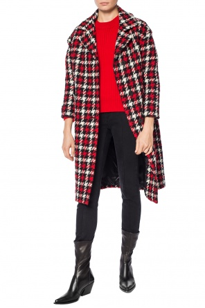Coat with a hounds tooth check pattern od McQ Alexander McQueen