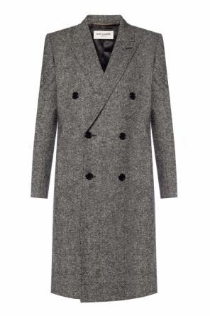 Single-vented double-breasted coat od Saint Laurent