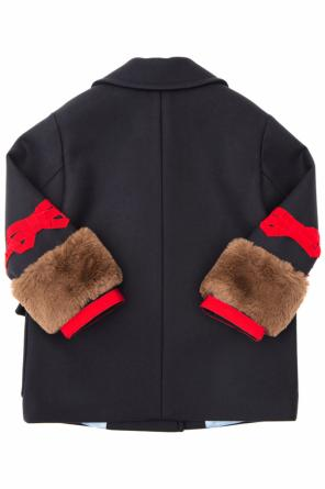 Double-breasted coat od Gucci Kids