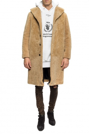 Fur coat with pockets od Saint Laurent