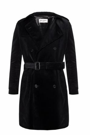 Double-breasted rib coat od Saint Laurent
