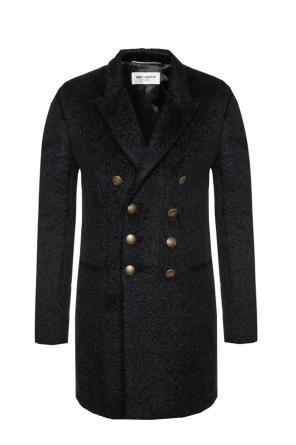 Double-breasted fur coat od Saint Laurent