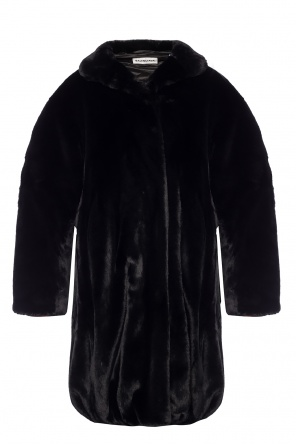 Fur coat with pockets od Balenciaga