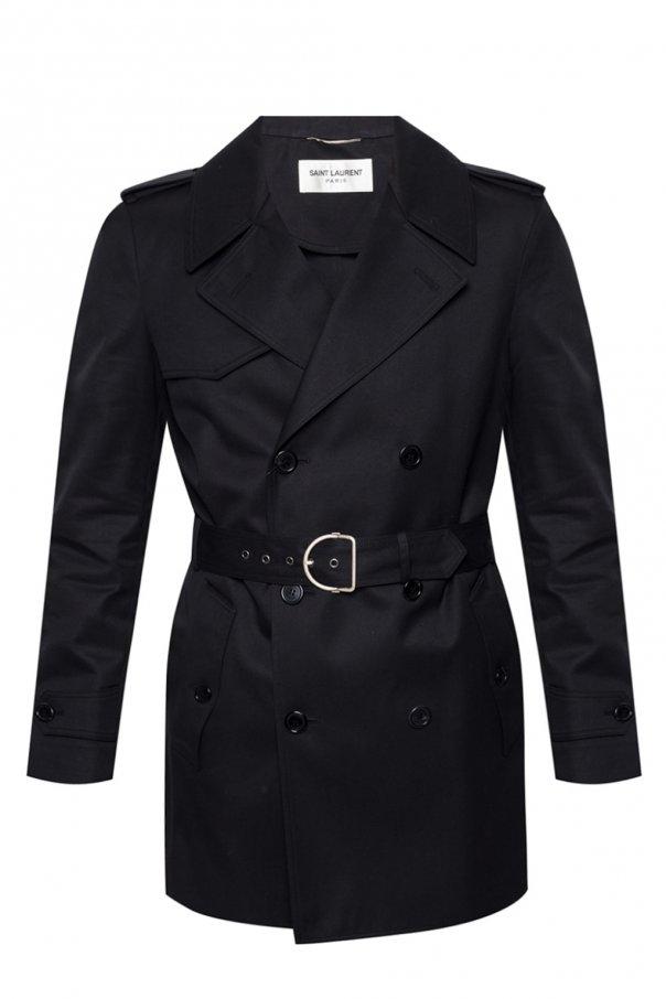 Saint Laurent Dwurzędowy płaszcz