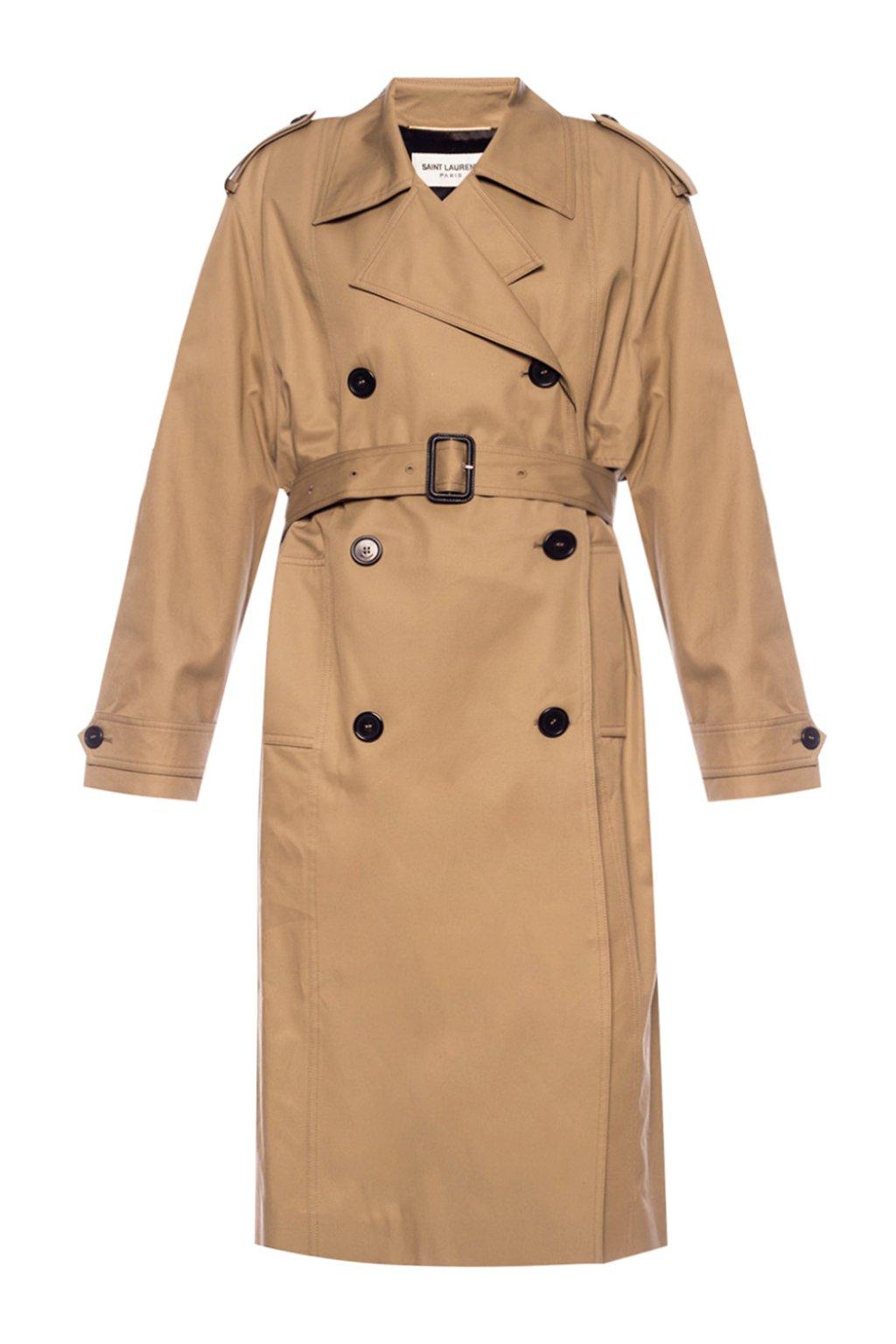 Saint Laurent Notch lapel trench coat