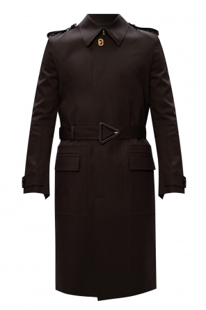 Trench coat with decorative fastening od Bottega Veneta