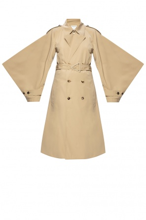 Trench coat with decorative sleeves od Bottega Veneta