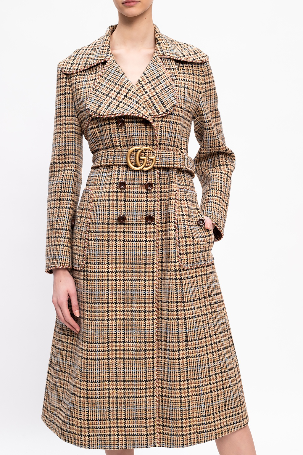 Gucci Double-breasted coat with belt