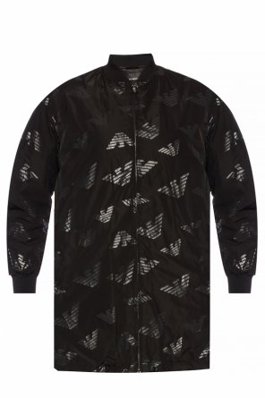 Jacket with logo pattern od Emporio Armani