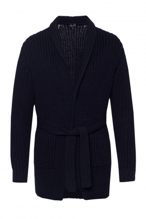 Belted waist cardigan od Emporio Armani