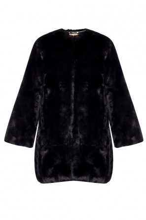 Crewneck fur coat od Michael Kors