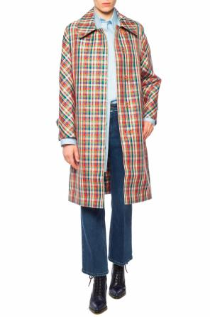 Coat with plaid motif od Burberry