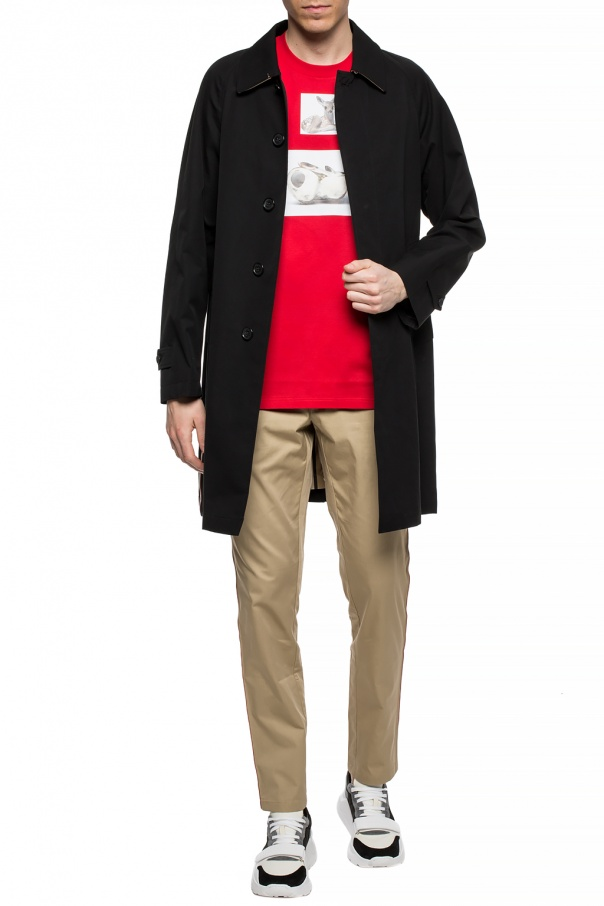 Coat with contrasting bands od Burberry