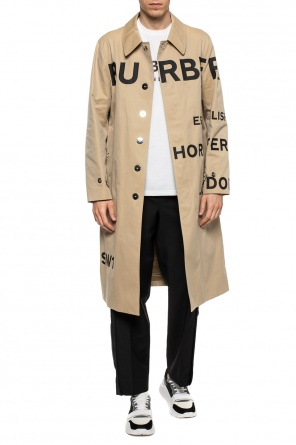 'keats' logo-printed coat od Burberry
