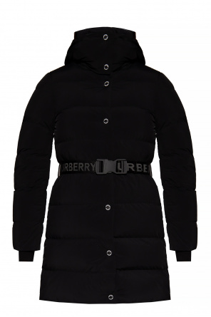 Down coat with logo od Burberry