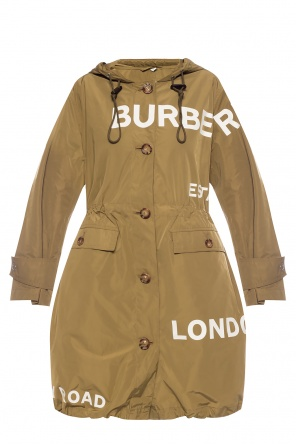 Hooded coat with logo od Burberry