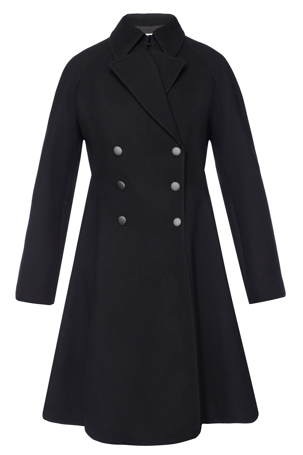 Alaia Ruffled double-breasted coat