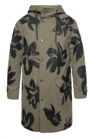 Painted oversize coat od Moschino