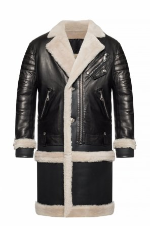 Leather coat with fur trim od Philipp Plein