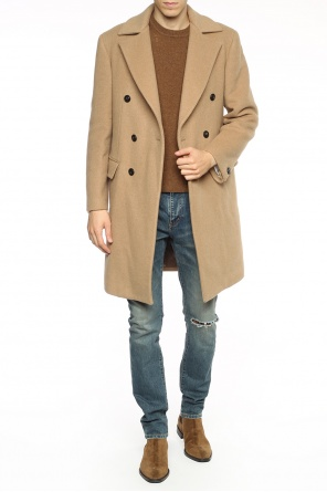 Single-vented coat od Versace