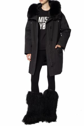 Fur-trimmed jacket od Yves Salomon