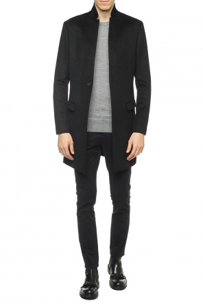 Cropped coat with band collar od AllSaints
