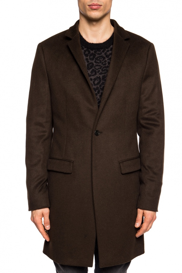 'bodell' coat with notch lapels od AllSaints