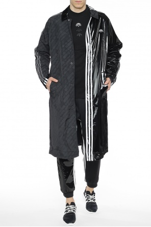 Logo-patched coat od ADIDAS by Alexander Wang