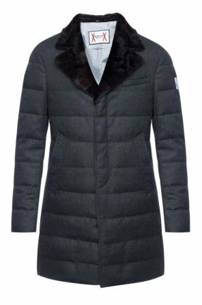 Fur collar down coat od Moncler Gamme Bleu
