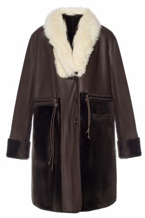Coat with fur collar od Chloe