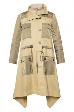 Coat with double band collar od Chloe
