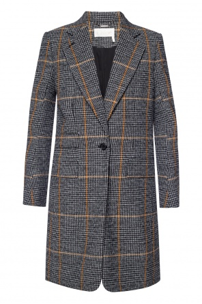 Checked coat od Chloe