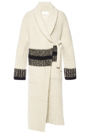 Striped wool coat od Chloe
