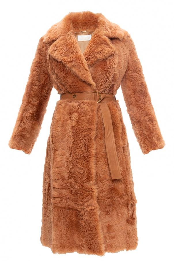 Chloé Fur coat with belt
